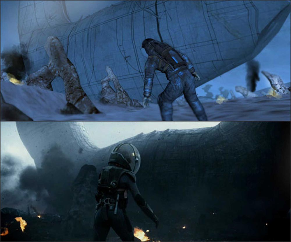 Prometheus Ridley Scott PreVisualization previs special effects